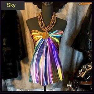 NEW Polished Stones Halter Slinky Sexy Colorful